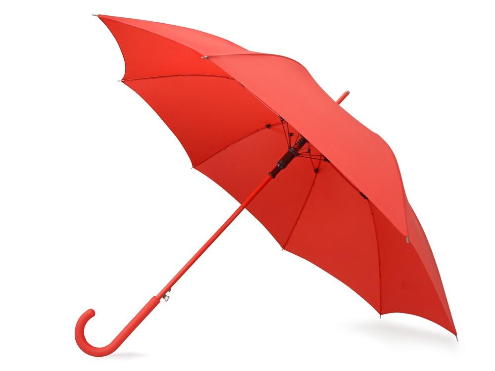 Зонт-трость Color полуавтомат, красный