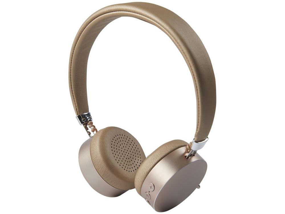 Металлические наушники Millennial с Bluetooth®, золотистый