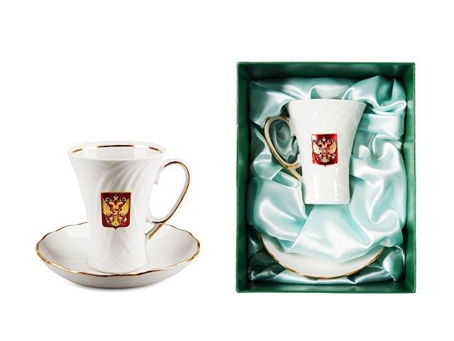 Чайная пара фарфоровая «Официальный приём» (арт. 3904)