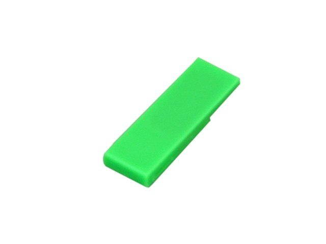 Флешка промо в виде скрепки, 16 Гб, зеленый