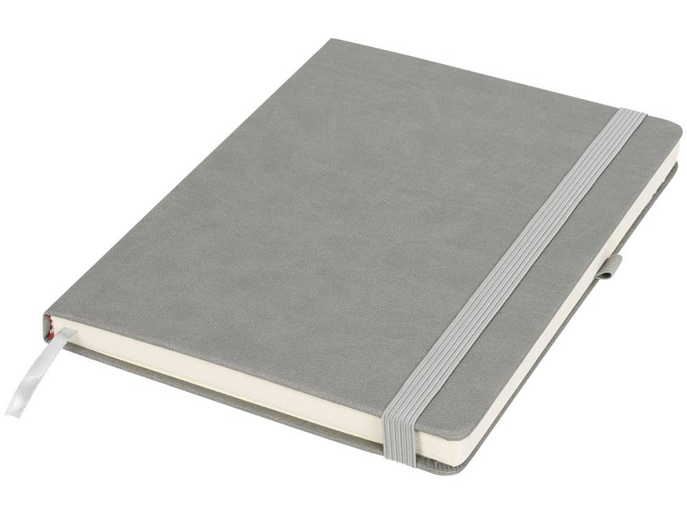 Блокнот Rivista большого размера, серый