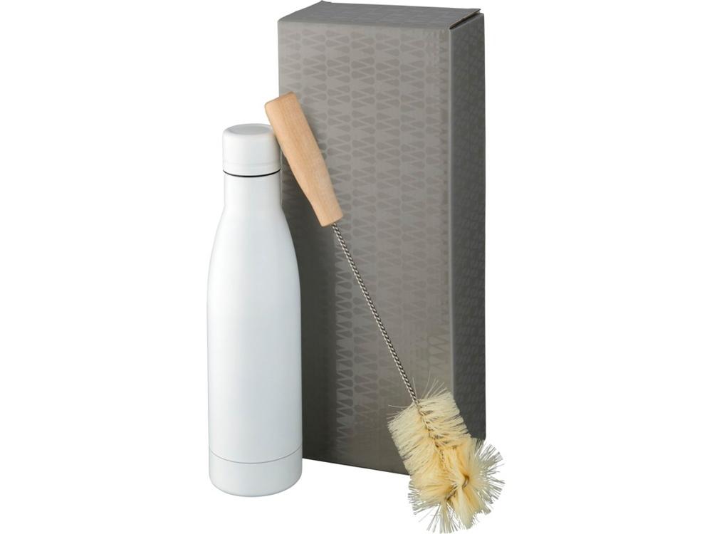 Набор из медной бутылки с вакуумной изоляцией Vasa и щетки, белый