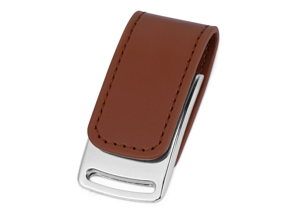 Флеш-карта USB 2.0 16 Gb с магнитным замком Vigo, светло-коричневый/серебристый