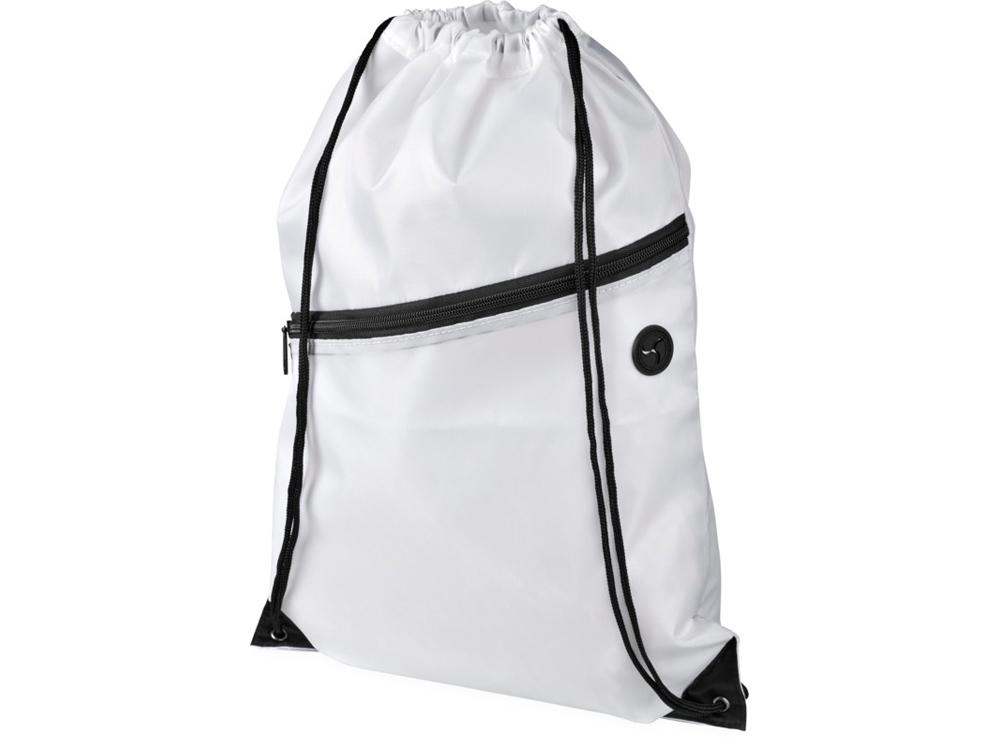 Рюкзак Oriole на молнии со шнурком, белый