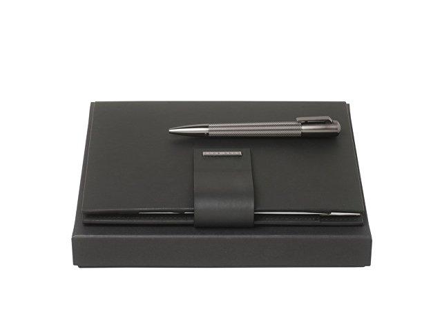 Подарочный набор: блокнот А5 с USB-флешкой на 16 Гб, ручка шариковая. Hugo Boss