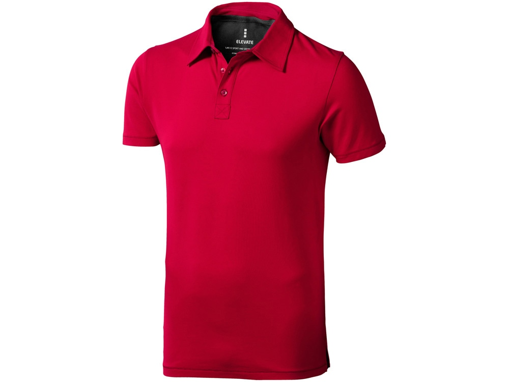 Рубашка поло Markham мужская, красный/антрацит