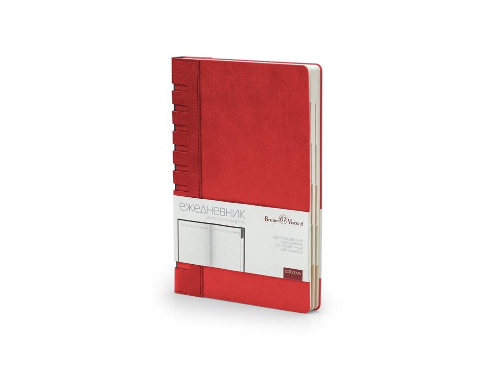 Ежедневник недатированный с индексами А5 Bergamo, красный
