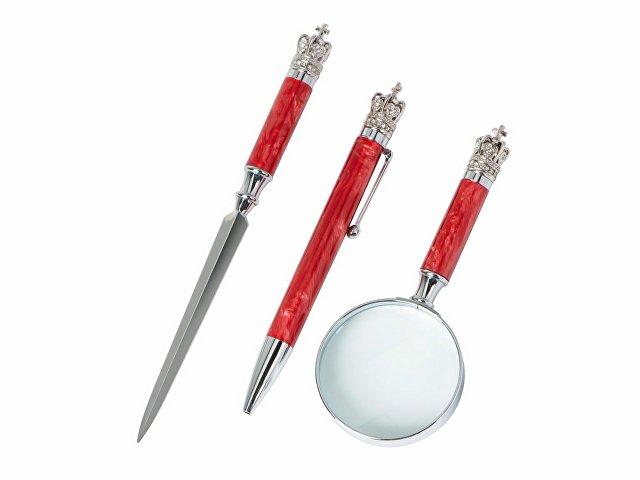 Набор «Принц Уэльский»: портмоне, ручка, лупа, нож для бумаг
