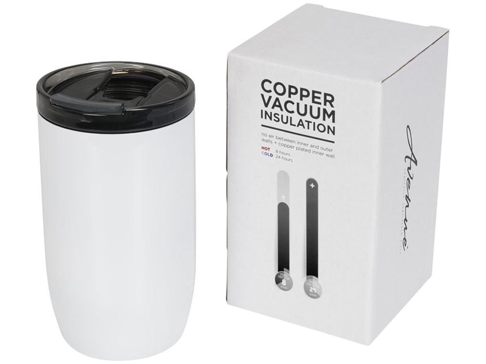 Герметичный термос Lagom 380 мл с медной вакуумной изоляцией, белый