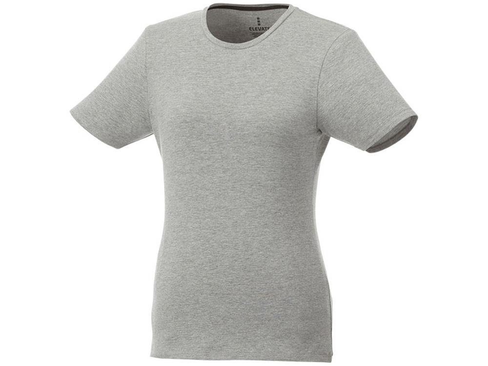 Женская футболка Balfour с коротким рукавом из органического материала, серый меланж