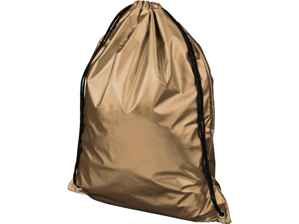 Блестящий рюкзак со шнурком Oriole, золотистый