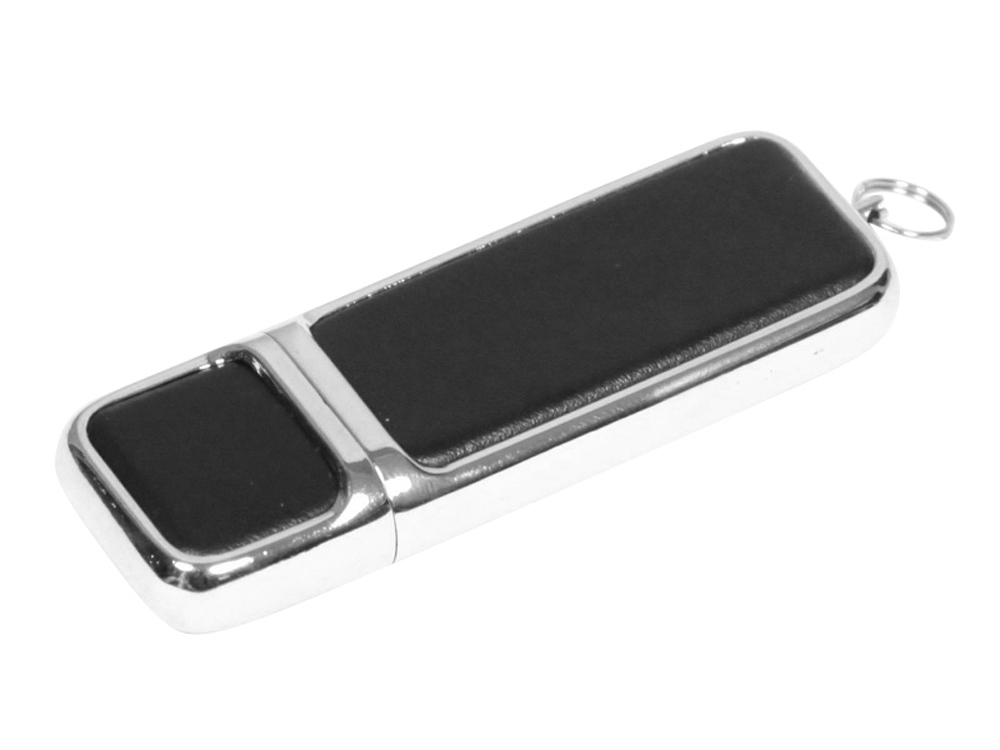 Флешка компактной формы, 32 Гб, черный/серебристый