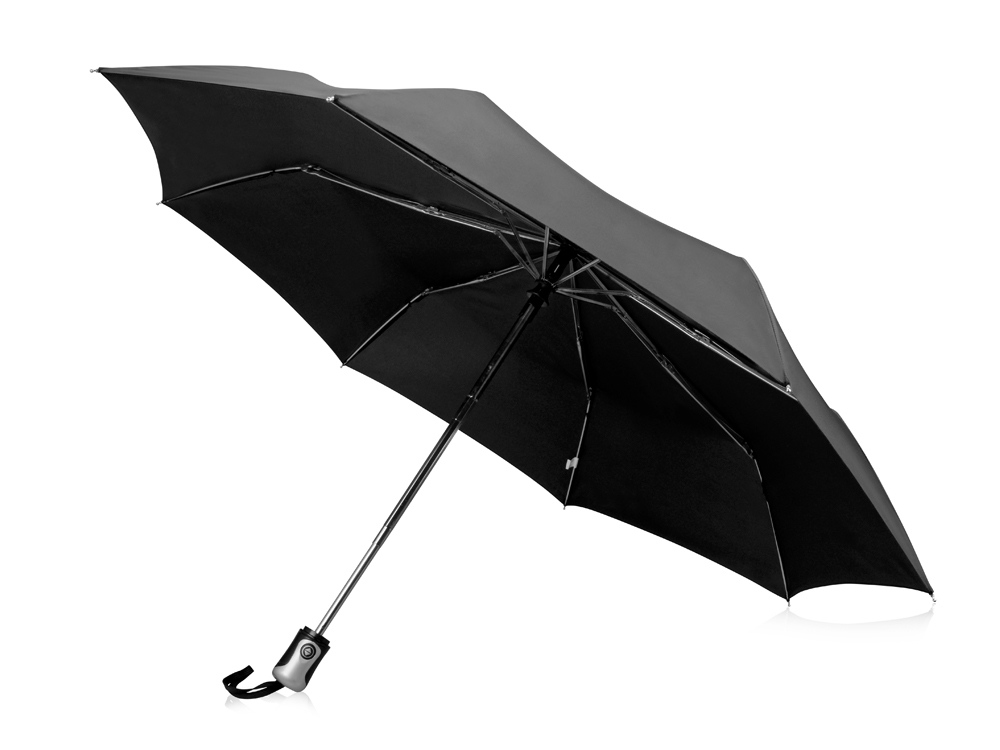 Зонт Alex трехсекционный автоматический 21,5, черный
