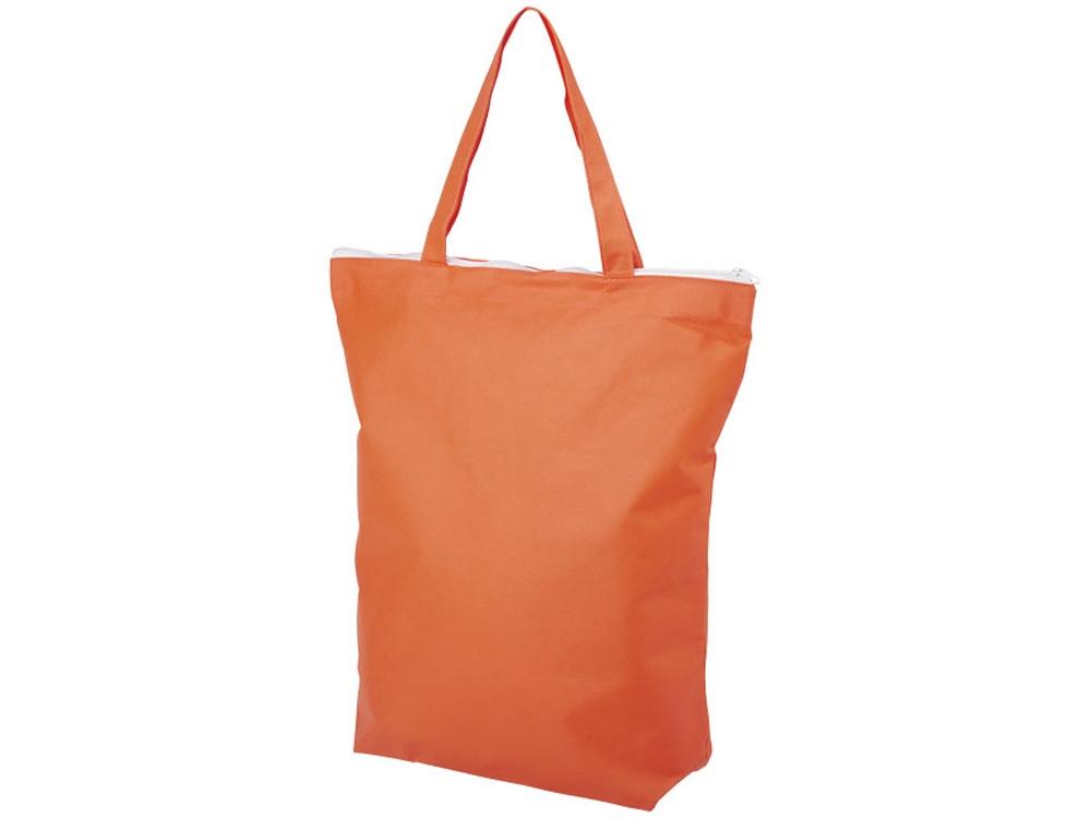 Нетканая сумка-тоут Privy с короткими ручками и застежкой-молнией