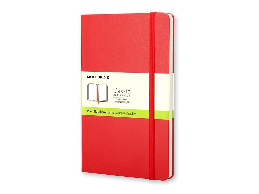 Записная книжка Moleskine Classic (нелинованный) в твердой обложке, Pocket (9x14см), красный
