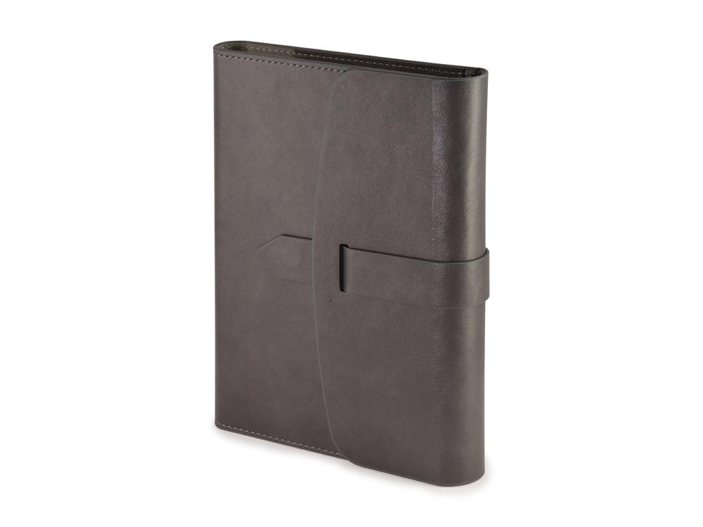 Ежедневник недатированный А5 Senate с магнитным клапаном, серый