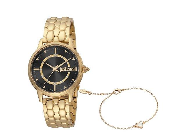 Подарочный набор: часы наручные женские, браслет (арт. 60013)