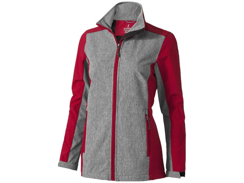 Куртка софтшел Vesper женская, красный/темно-серый