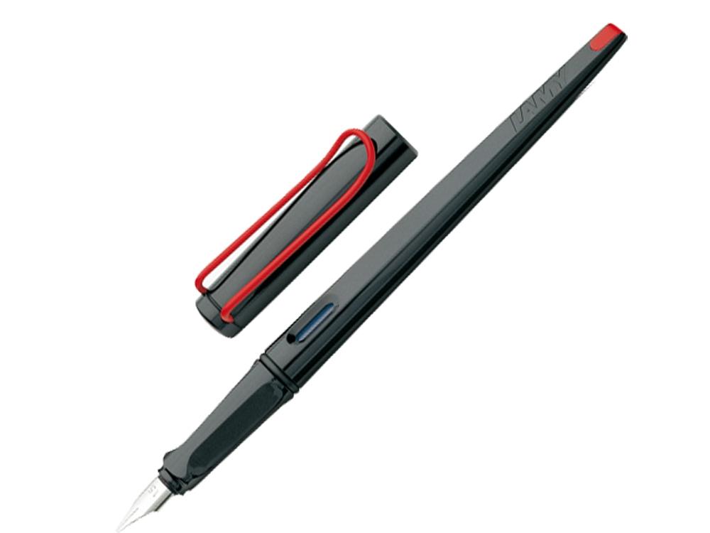 Ручка перьевая 015 joy, Черный/красный клип, 1.5 mm
