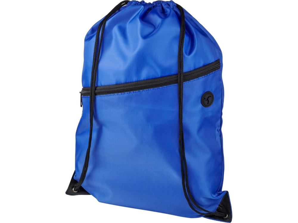 Рюкзак Oriole на молнии со шнурком, ярко-синий