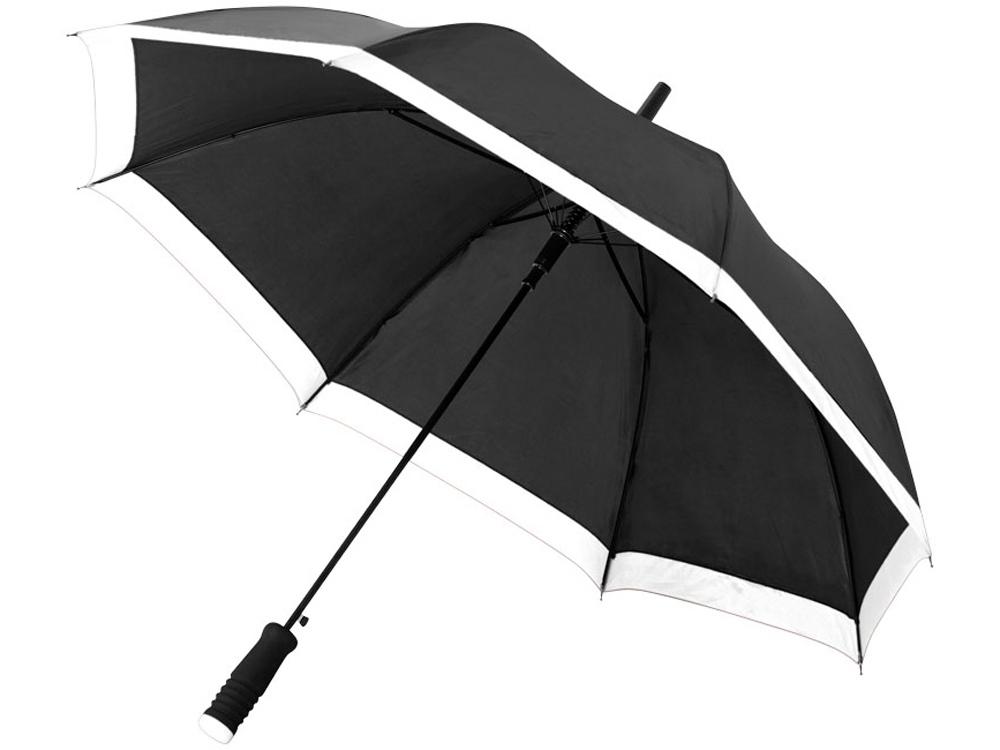 Зонт-трость Kris 23 полуавтомат, черный/белый