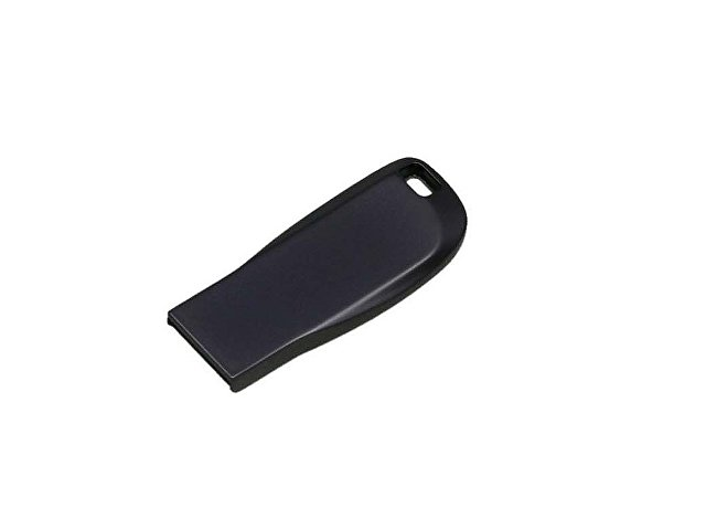 Флешка с мини чипом, компактный дизайн с овальным отверстием, 16 Гб, антрацит