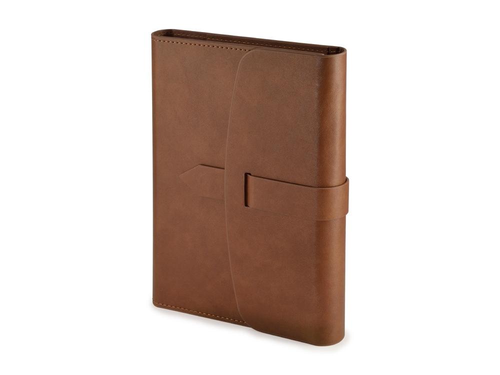 Ежедневник недатированный А5 Senate с магнитным клапаном, коричневый