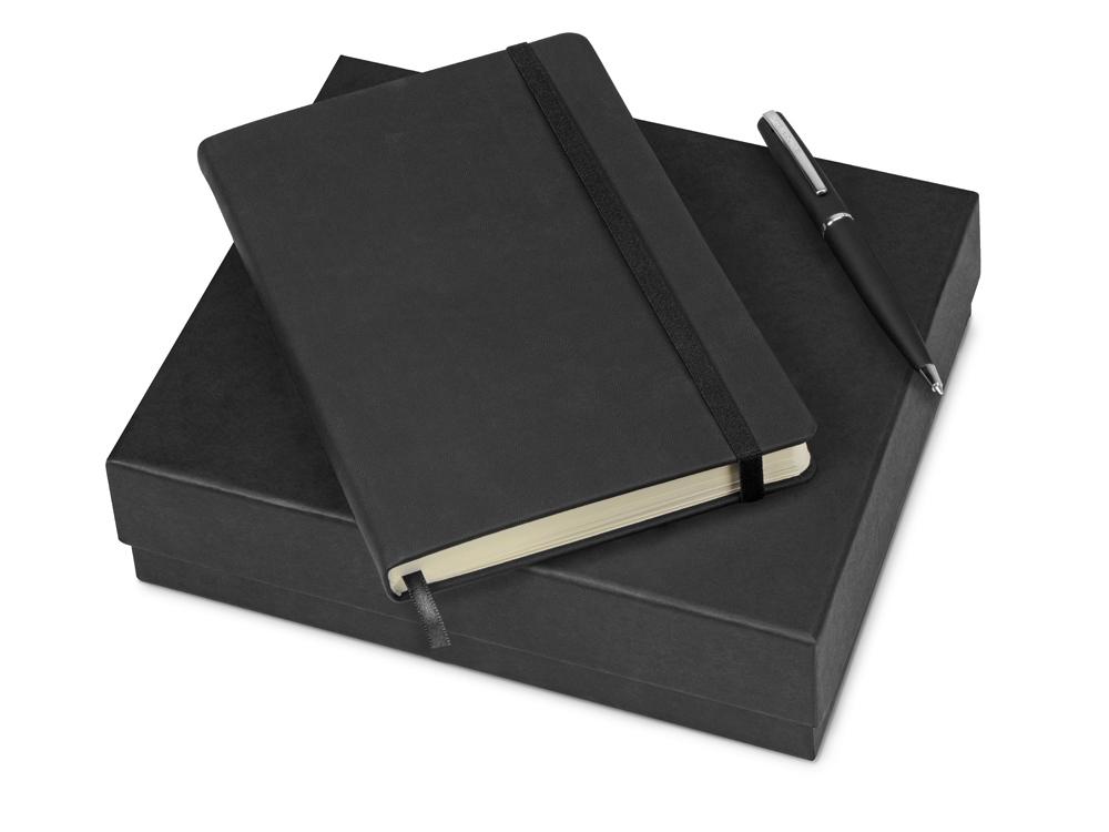 Подарочный набор Bruno Visconti Megapolis Velvet: ежедневник А5 недат., ручка шарик., черный