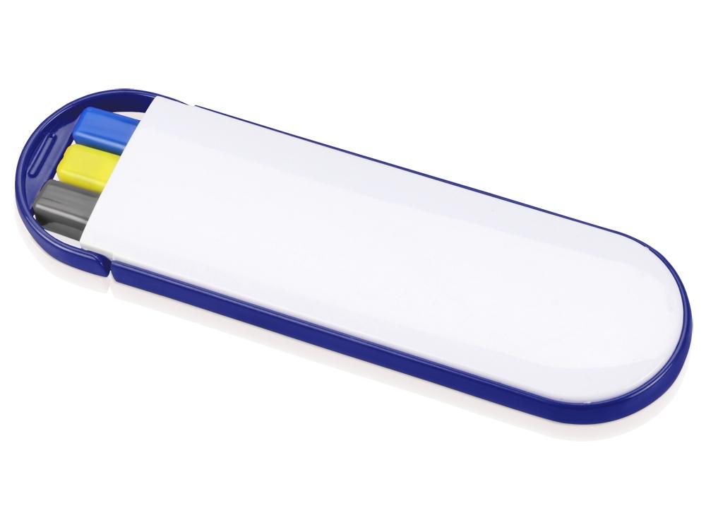 Набор Квартет: ручка шариковая, карандаш и маркер, белый/синий