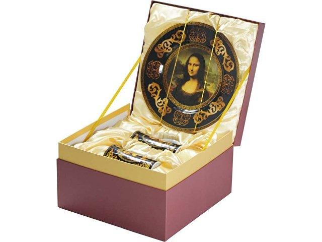 Подарочный набор «Мона Лиза»: блюдо для сладостей, две кружки (арт. 827501)