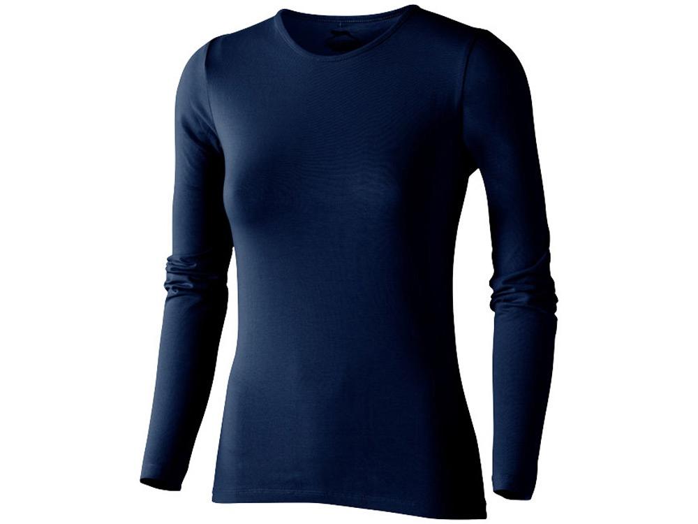 Футболка женская с длинным рукавом, темно-синий