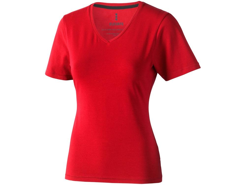 Футболка Kawartha женская с V-образным вырезом, красный