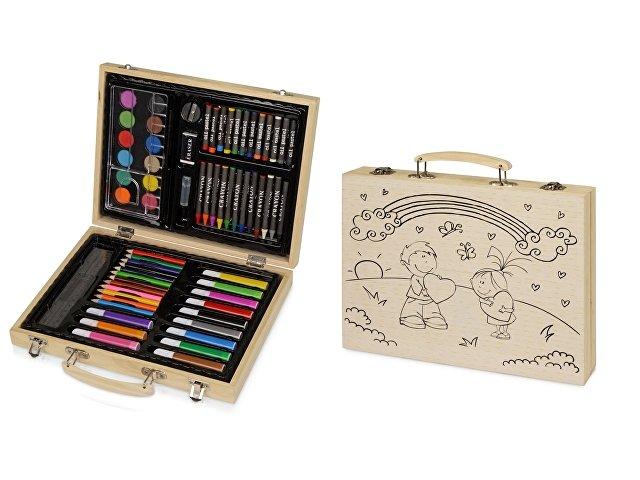 Набор для рисования в чемодане с рисунком