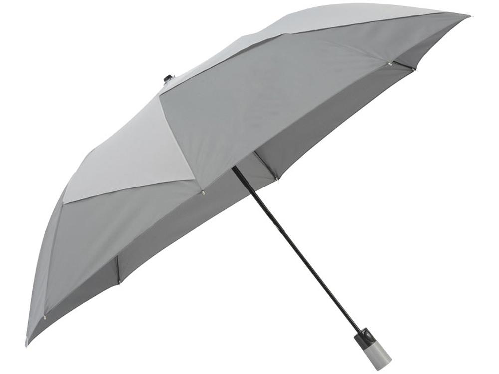 Зонт двухсекционный Pinwheel с автоматическим открытием, 23, серый