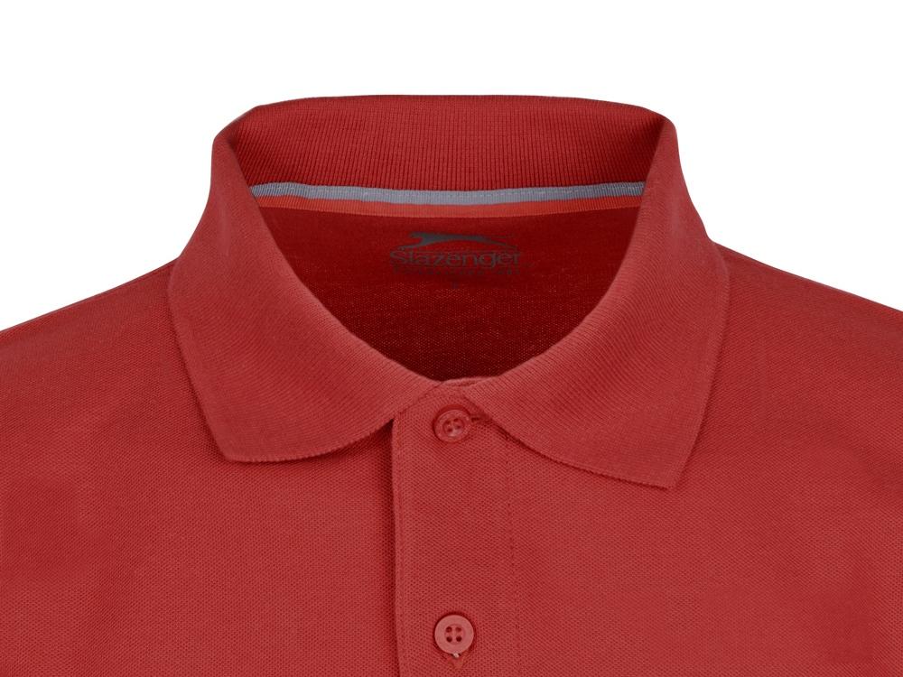 Рубашка поло Point мужская с длинным рукавом, красный