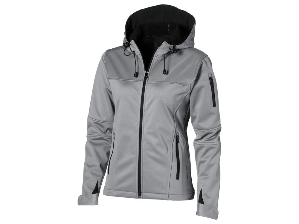Куртка софтшел Match женская, серый/черный