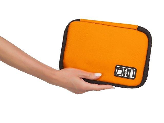 Органайзер для зарядных устройств, USB-флешек и других аксессуаров, оранжевый