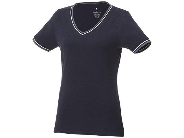 Женская футболка Elbert с коротким рукавом, темно-синий/серый меланж/белый