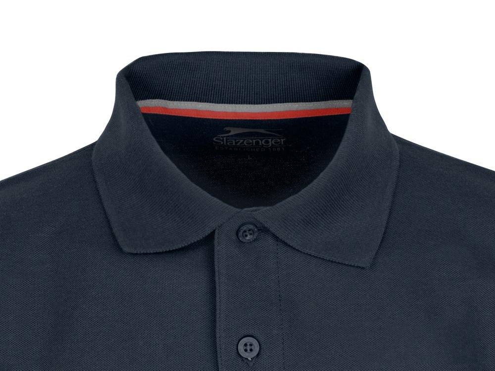 Рубашка поло Point мужская с длинным рукавом, темно-синий