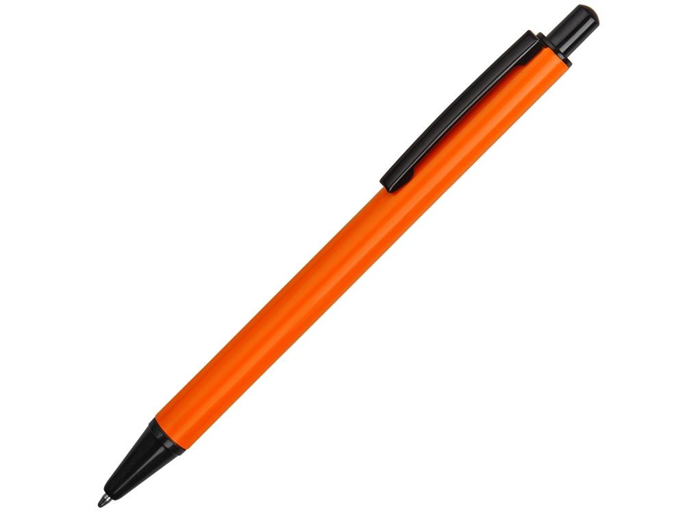 Ручка металлическая шариковая Iron, оранжевый/черный