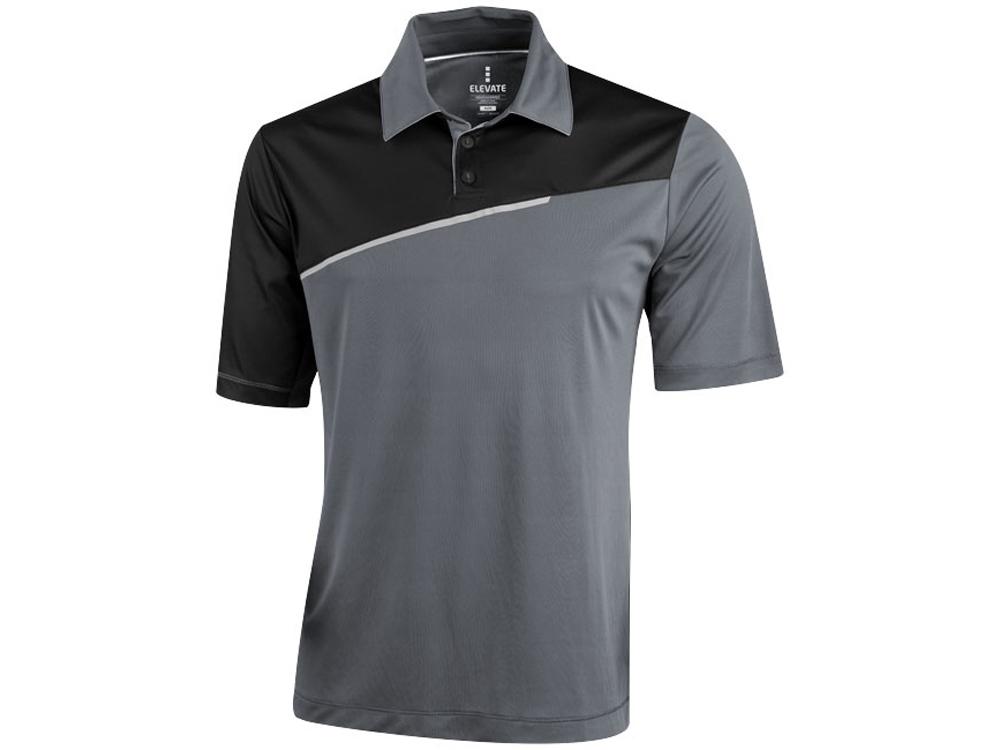 Рубашка поло Prater мужская, серый/черный