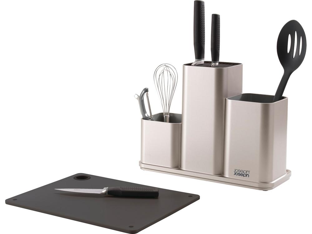 Органайзер для кухонной утвари настольный CounterStore, серебристый