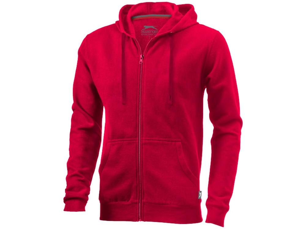 Толстовка Open мужская с капюшоном, красный