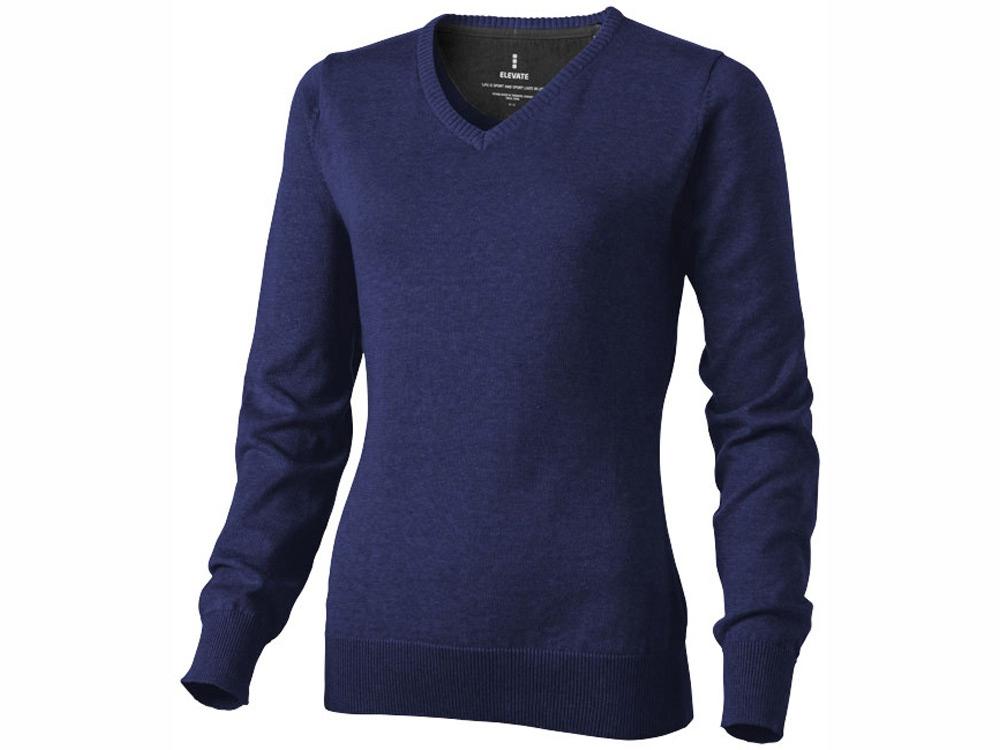 Пуловер Spruce женский с V-образным вырезом, темно-синий