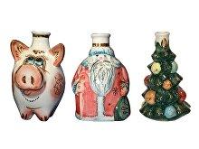 Подарочный набор «Новогодний»: три мини-штофа (арт. 61735)