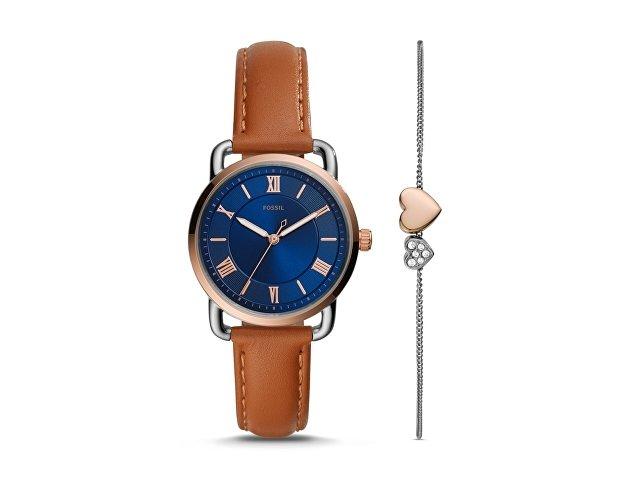 Подарочный набор: часы наручные женские, браслет (арт. 29667)