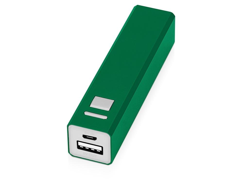Портативное зарядное устройство Спейс, 3000 mAh, зеленый