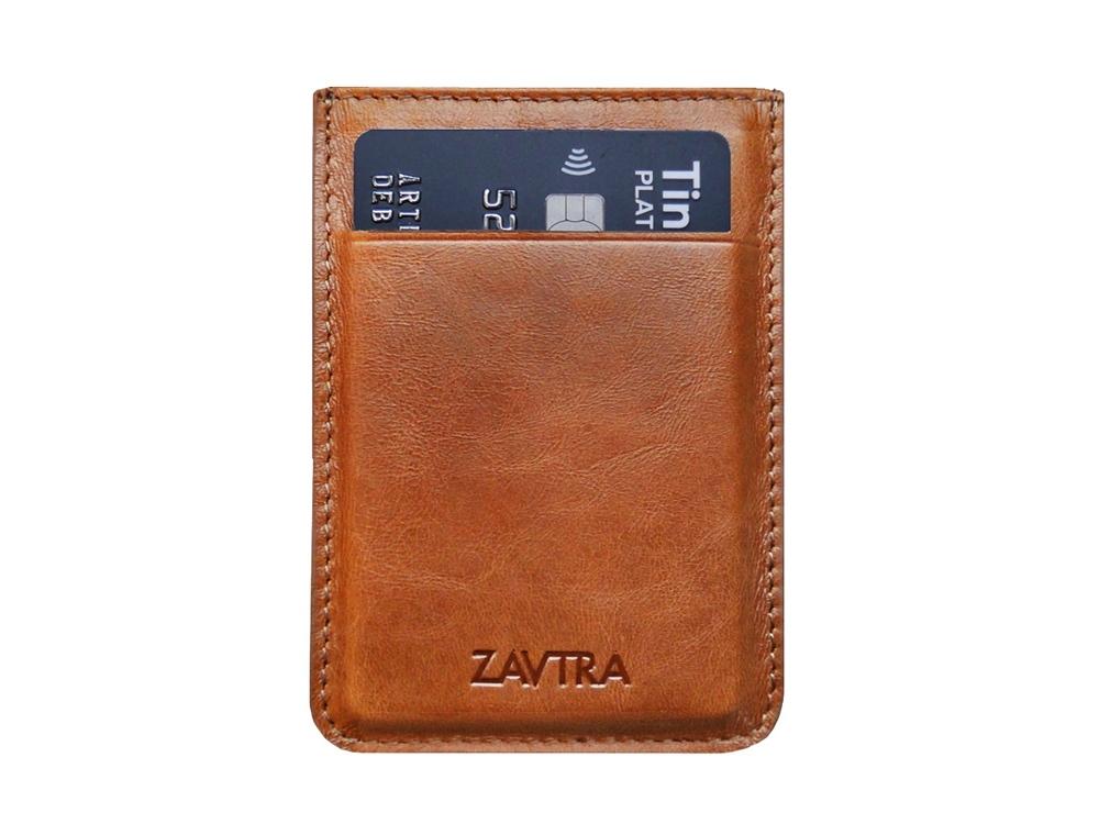 Минималистичный кошелек, коричневый