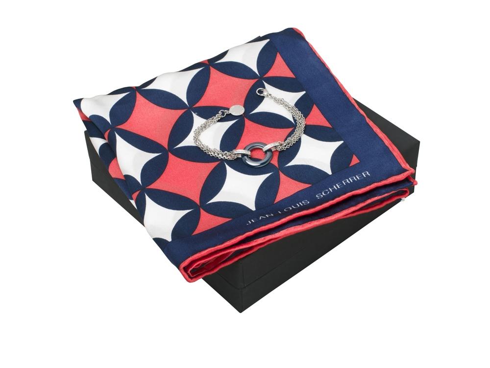 Подарочный набор Boogie: шелковый платок, браслет. Jean-Louis Scherrer