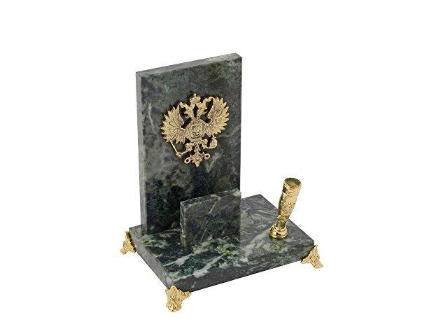 Настольный прибор «Закон», зеленый/золотистый